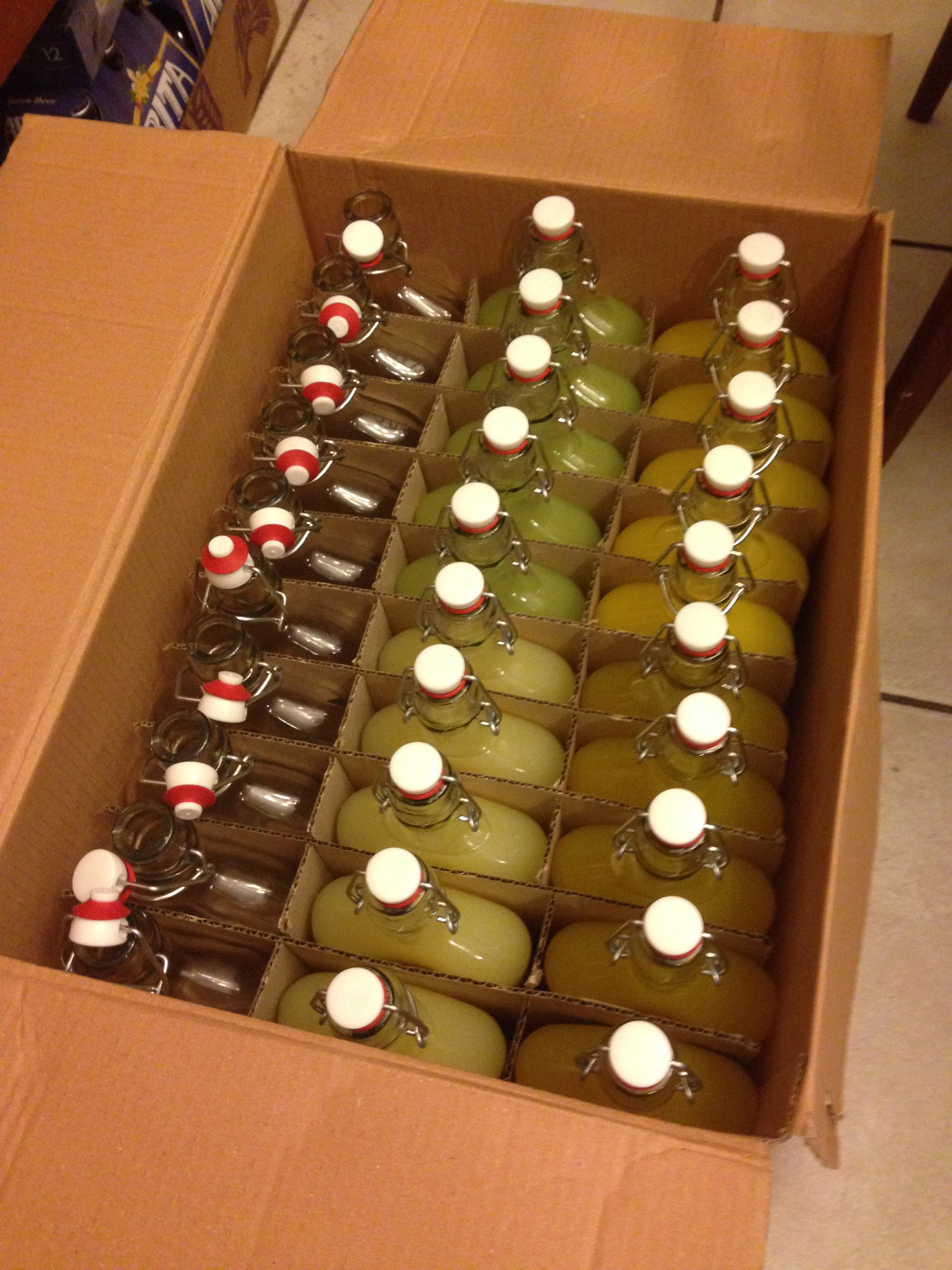 Packed Bottles